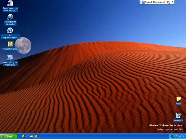 Desktop von Windows XP