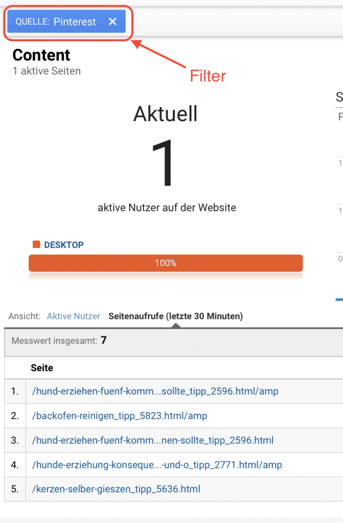 Pinterest Filter in Google Analytics